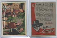 1958 Topps, Zorro, #20 Diego the Weakling