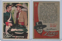 1958 Topps, Zorro, #21 The Question
