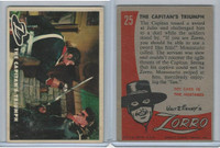 1958 Topps, Zorro, #25 The Captain's Triumph