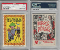 1959 Topps, Funny Valentines, #12 You Ought to Be in Pictures, PSA 9 Mint