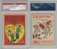 1959 Topps, Funny Valentines, #37 Say the Words That Will, PSA 6 EXMT