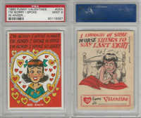 1960 Topps, Funny Valentines, #25A I'm Sorry I Spoke in Anger, PSA 9 Mint