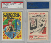 1960 Topps, Funny Valentines, #50A I Keep Your Picture in My Room, PSA 9 Mint