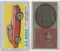1961 Topps, Sports Cars, #4 A.C. Aceca, Great Britain