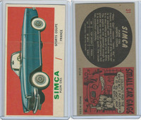 1961 Topps, Sports Cars, #31 Simca Plein Ciel, France