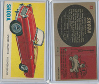 1961 Topps, Sports Cars, #33 Skoda, Czechoslovakia