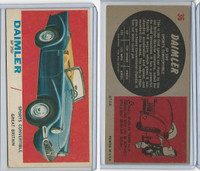 1961 Topps, Sports Cars, #36 Daimler SP 250, Great Britain
