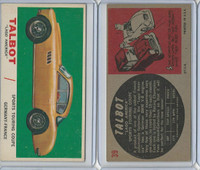 "1961 Topps, Sports Cars, #39 Talbot ""Lago America"", Germany-France"