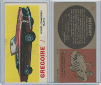 1961 Topps, Sports Cars, #58 Gregoire, France