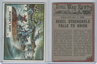 1962 Topps, Civil War News, #15 Nature's Fury, Mississippi River