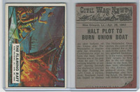 1962 Topps, Civil War News, #17 The Flaming Raft, New Orleans