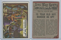 1962 Topps, Civil War News, #25 Hanging the Spy, Eden, PA