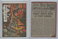 1962 Topps, Civil War News, #40 Bullets of Death, Port Gibson, Miss.