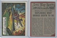 1962 Topps, Civil War News, #45 The Riverboat Explodes, Memphis, Tenn