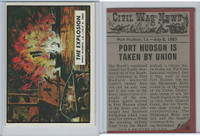 1962 Topps, Civil War News, #49 The Explosion, Port Hudson, LA