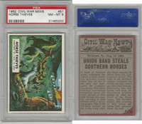 1962 Topps, Civil War News, #51 Horse Thieves, PSA 8 NMMT
