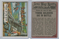 1962 Topps, Civil War News, #66 Victim of the War, Resaca, GA