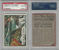 1962 Topps, Civil War News, #69 Death in the Water, PSA 8 NMMT