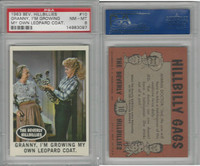 1963 Topps, Beverly Hillbillies, #10 Granny, I'm Growing My, PSA 8 NMMT
