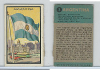1963 Topps, Flag Midgee Cards, #3 Argentina