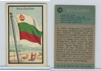 1963 Topps, Flag Midgee Cards, #10 Bulgaria