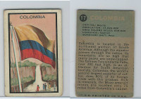 1963 Topps, Flag Midgee Cards, #17 Columbia