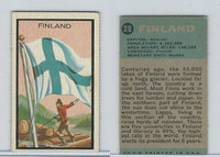 1963 Topps, Flag Midgee Cards, #28 Finland