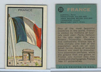 1963 Topps, Flag Midgee Cards, #29 France