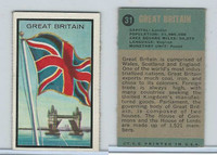 1963 Topps, Flag Midgee Cards, #31 Great Britian