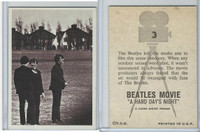1964 Topps, Beatles Movie, #3 The Beatles Left the Studio Sets to
