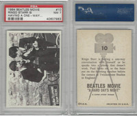 1964 Topps, Beatles Movie, #10 Ringo Starr Is Having A One-Way, PSA 7 NM
