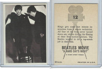 1964 Topps, Beatles Movie, #12 Ringo Gets Some Last Minute