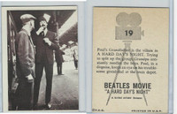 1964 Topps, Beatles Movie, #19 Paul's Grandfather Is the Villain in A