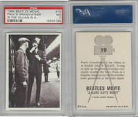 1964 Topps, Beatles Movie, #19 Paul's Grandfather Is the Villain in A, PSA 7 NM