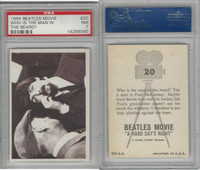 1964 Topps, Beatles Movie, #20 Who Is the Man in the Beard?, PSA 7 NM