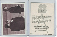 1964 Topps, Beatles Movie, #27 Paul, Ringo & George Are Getting Ready to