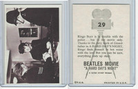 1964 Topps, Beatles Movie, #29 Ringo Starr Is in Trouble With the Police