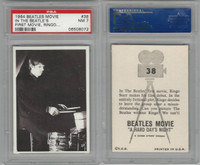 1964 Topps, Beatles Movie, #38 In the Beatle's First Movie, Ringo, PSA 7 NM