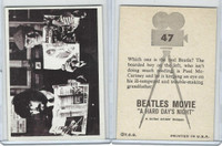 1964 Topps, Beatles Movie, #47 Which One Is the Real Beatle?