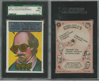 1967 Topps, Who Am I? (Coated), #8 William Shakespeare, SGC 88 NMMT