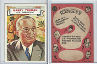 1967 Topps, Who Am I? (Uncoated), #11 Harry Truman, President