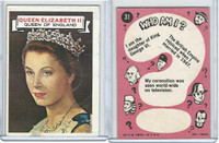 1967 Topps, Who Am I? (Uncoated), #31 Queen Elizabeth II