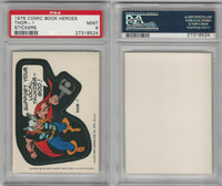 1975 Topps, Comic Book Heroes Stickers, Thor-1, PSA 9 Mint