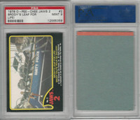 1978 O-Pee-Chee, Jaws 2, #2 Brody's Leap for Life, PSA 9 Mint