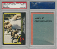 1978 O-Pee-Chee, Jaws 2, #18 Observing the Sea Battle, PSA 9 Mint