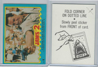 1978 Topps, Jaws 2 Stickers, #6 Aiming Against the Monster