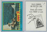 1978 Topps, Jaws 2 Stickers, #9