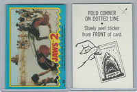1978 Topps, Jaws 2 Stickers, #10 Mauled by the Monster Shark