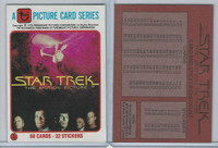 1979 Topps, Star Trek, #1 The Motion Picture, Checklist