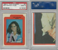 1983 Topps, A-Team Stickers, #3 Amy Amanda Allen, PSA 9 Mint